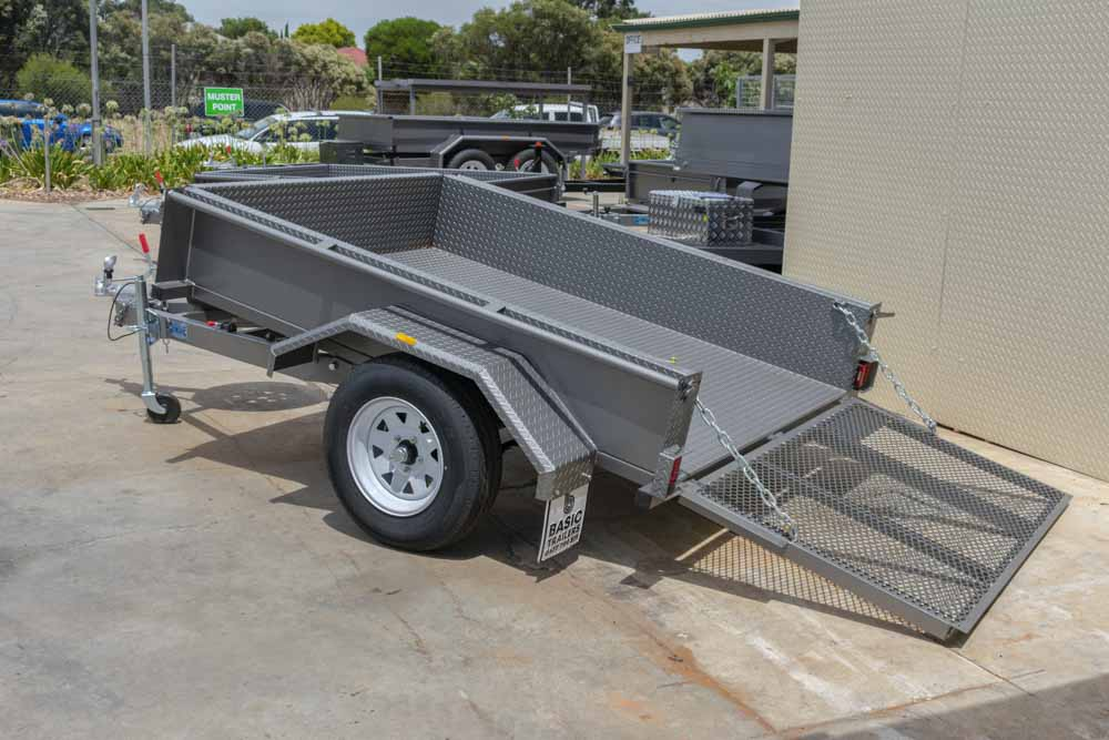 Trailer for Sale: Basic Trailers 7x5 single axle atv tilt golf cart